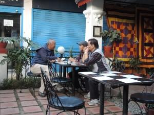 At a local café in kathmandu.