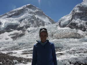 Khumbu icefall in the back